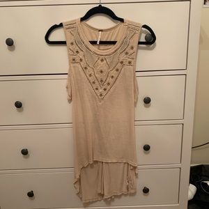 Free People Open Back Sleeveless Flowy Tunic sz S